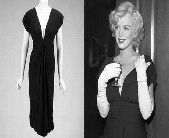 Marilyn Monroe's black cocktail dress