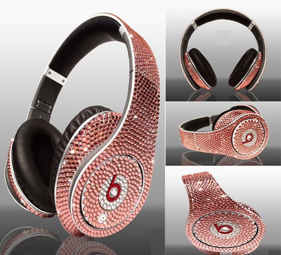 Dr. Dre Beats Rose Crytal headset