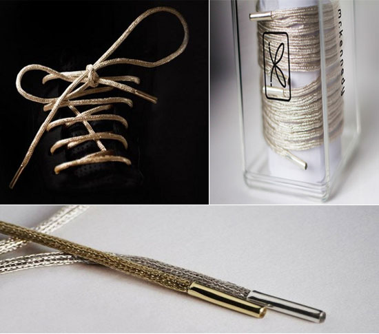 Mr Kennedy gold shoe laces
