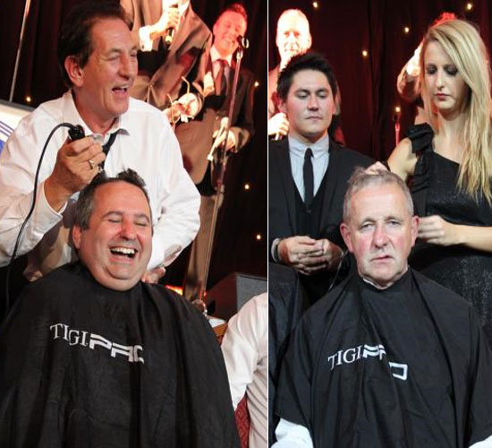 Most expensive haircut at Paul Strank Roofing charity bash