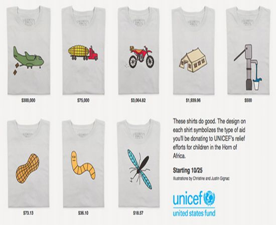 UNICEF unveil designer T shirt