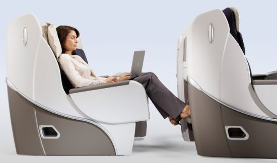 Air France Business-class seat