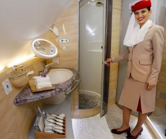 Emirates Airline Shower Spas