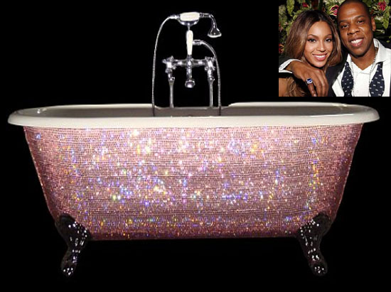 Beyonce splurges $7,000 on a Swarovski crystal baby bathtub