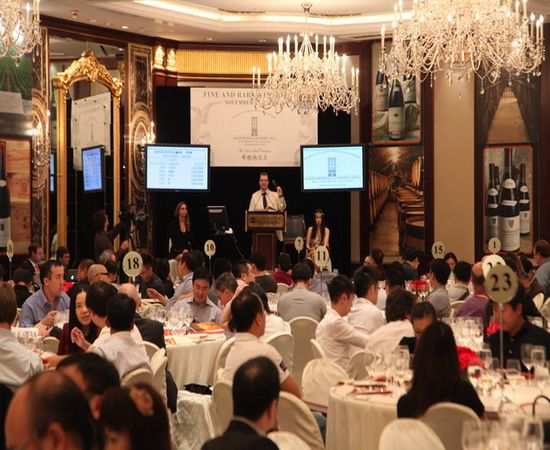 Hong Kong hosts year's biggest and most expensive wine auction of rare French wines