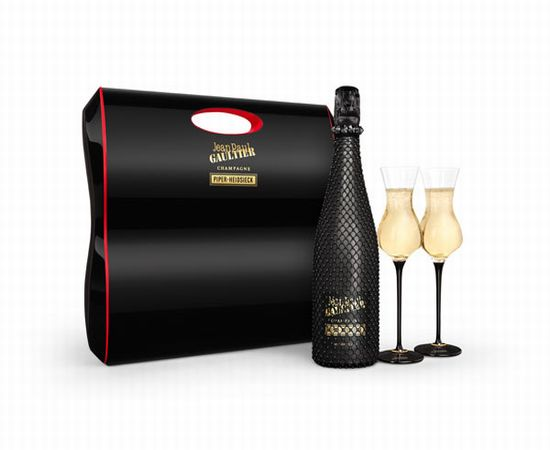 Piper-heidsieck Halloween-inspired champagne bottles by Jean paul gaultier