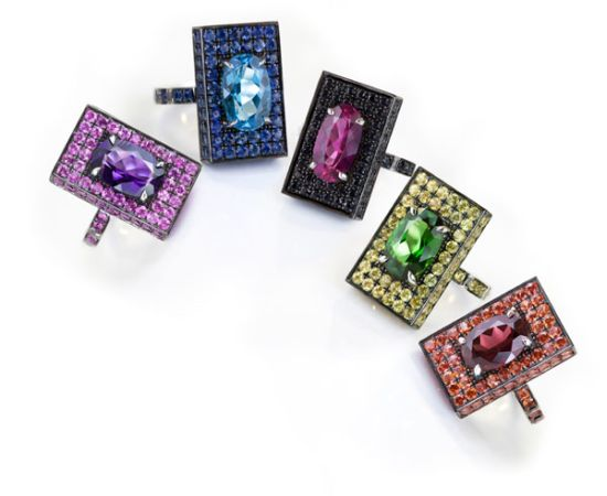 cocktail rings collection called Captivo'