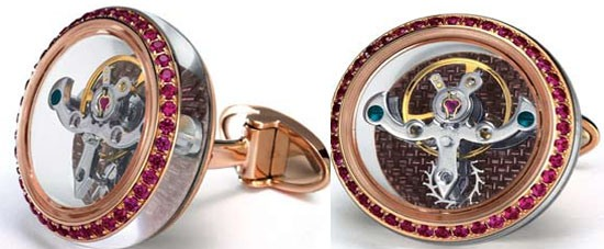 The Tourbillon cufflinks crafted for the classy watch lovers
