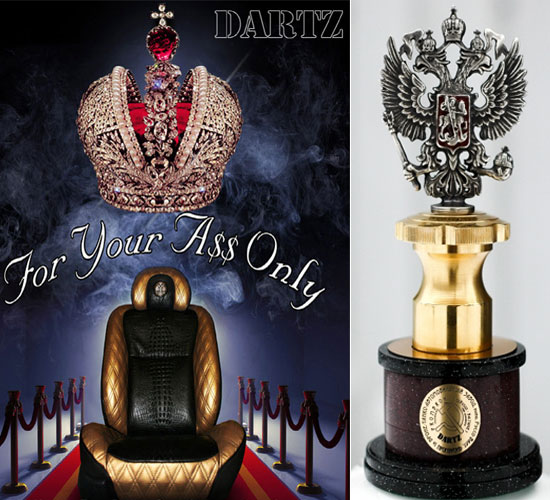 Dartz Prombron Gold Black seat and Russian eagle