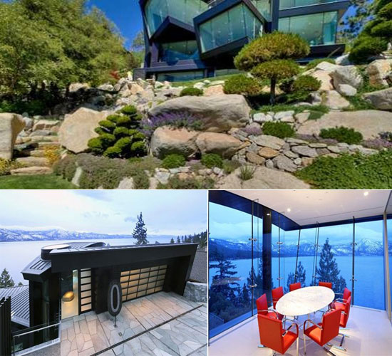Lakefront Glass Mansion