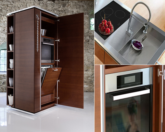 Philippe Starck's rotating kitchen tower by Warendorf