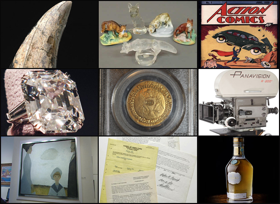 Most expensive unusual auctions of 2011