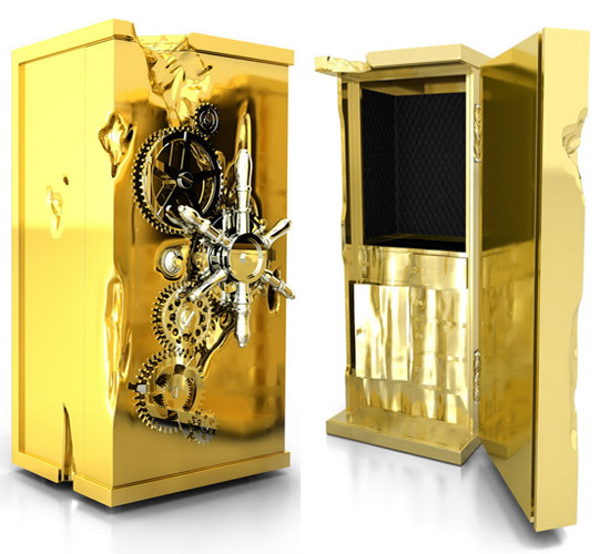 Millionaire Safe dipped in Gold