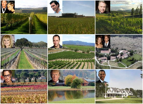 Private vineyards of the rich and famous