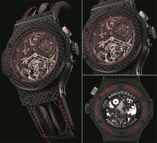 Hublot Ferrari tourbillon watch for China