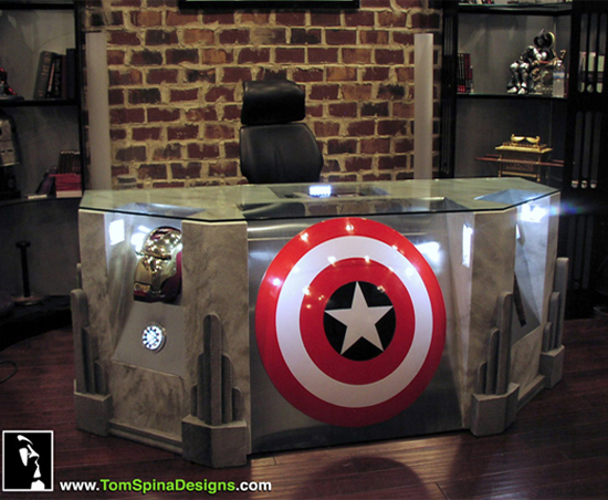 Avengers movie themed desk