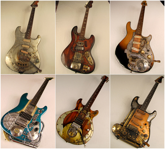 Steampunk guitars