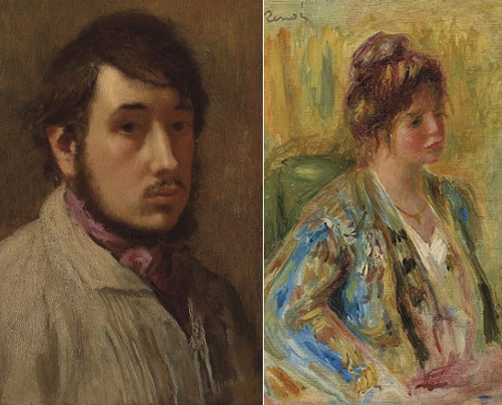 Edgar Degas & Buste de Femme paintings