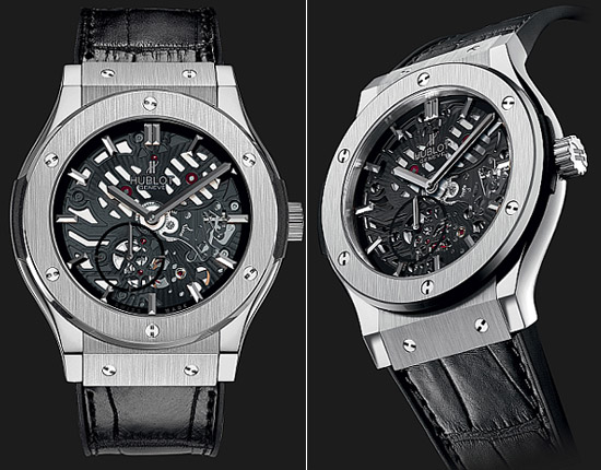 Hublot limited edition extra thin Titanium watch