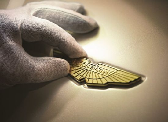 24K gold-plated Aston Martin's iconic wings logo
