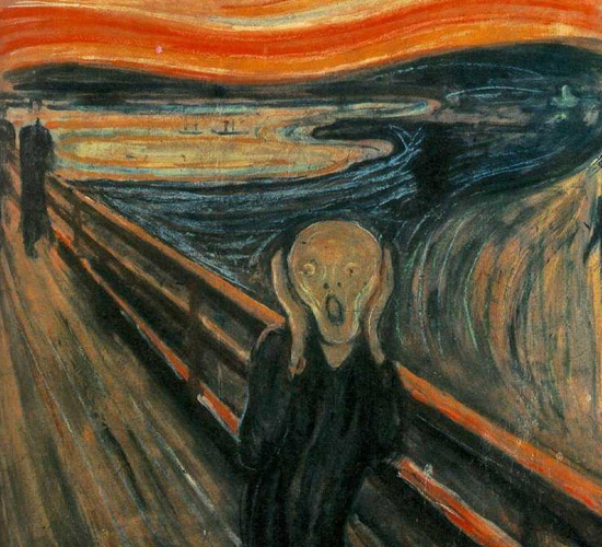 Edvard Munch's The Scream Painting