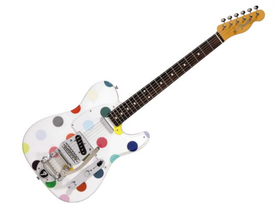 Custom Fender Guitar by Damien Hirst
