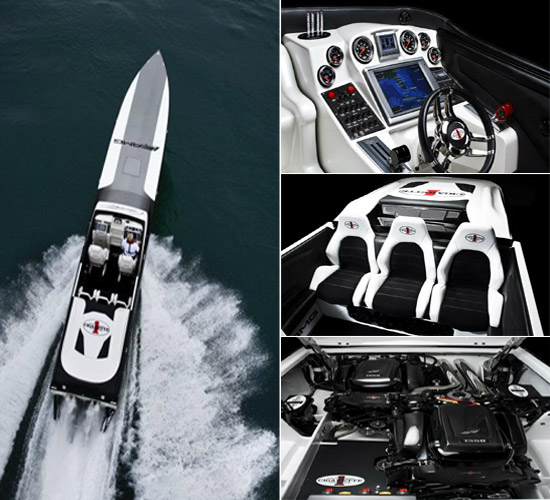 Cigarette 50- Marauder racing boat interior