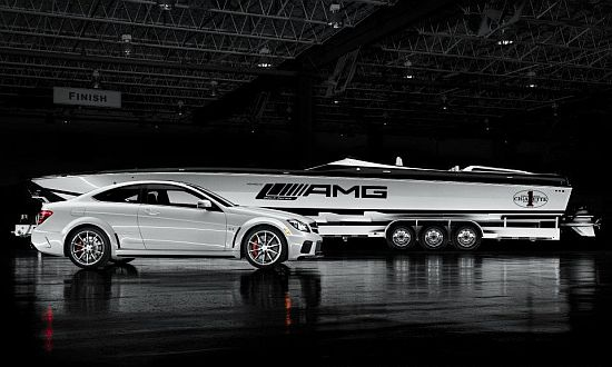 Cigarette 50- Marauder racing boat with C63 Mercedes Benz
