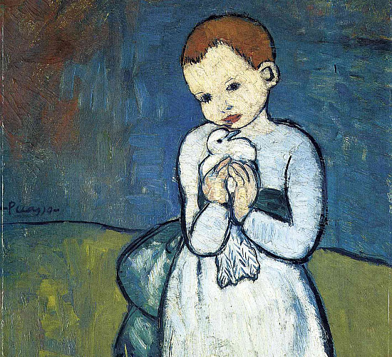 'Child with a dove' painting by Picasso