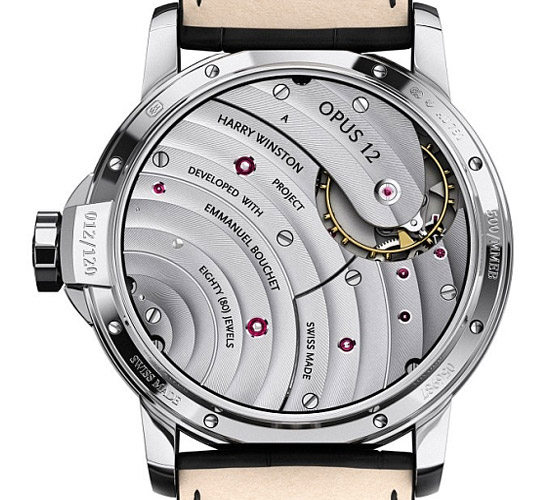 Harry Winston Opus 12 watch rear view