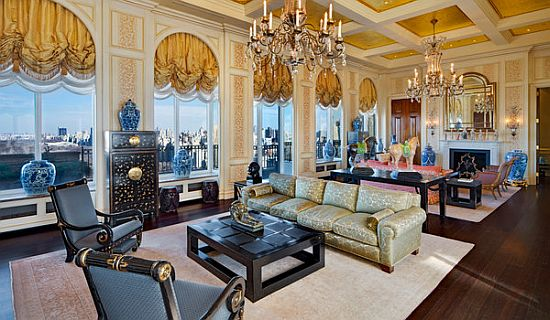 Living Room of the Ritz Carlton penthouse