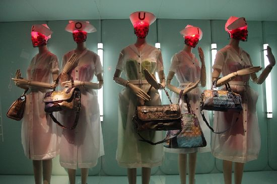 Louis Vuitton nurses toting handbags