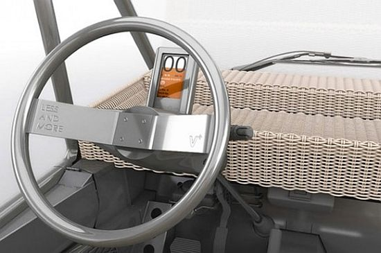 Philippe Starck's Volteis electric car instrument panel