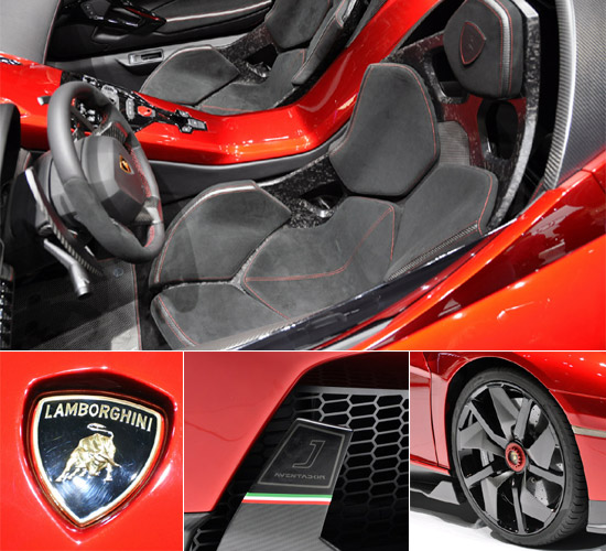 Lamborghini Aventador J Aural interiors and styling