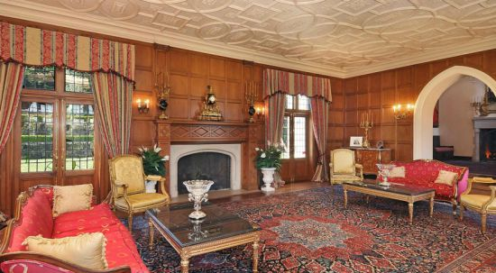 Living area of the luxurious Tudor mansion