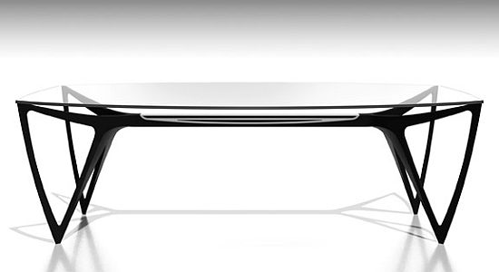 Mercedes X Formitalia furniture collection glass top table