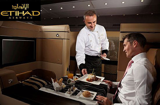 Etihad Airways menu