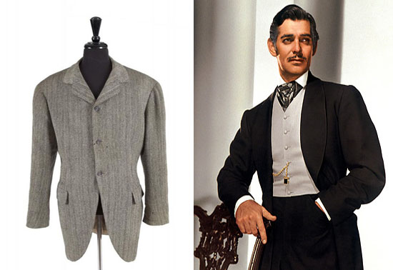 CLARK GABLE COSTUME JACKET FROM GONE WITH THE WIND