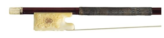 Gold and ivory-mounted violin bow