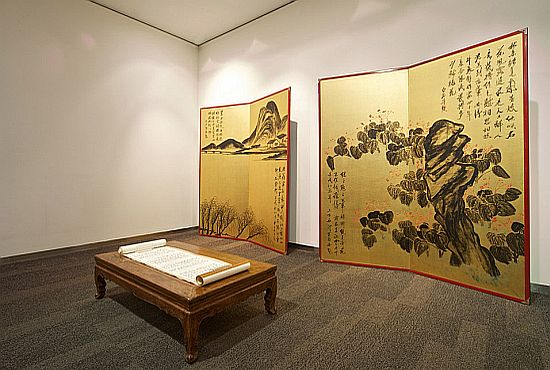 Golden Screens by Qi Baishi