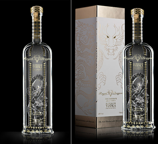 Royal Dragon Emperor vodka bottle
