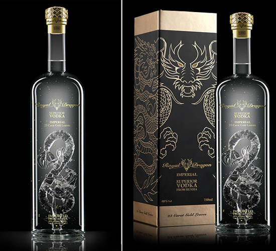 Royal Dragon Imperial vodka bottle