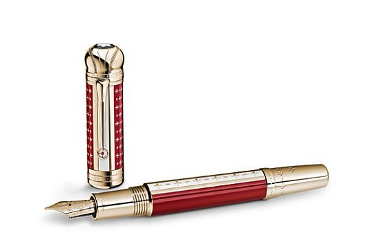 Montblanc Patron of the Art: Joseph II red and gold pen