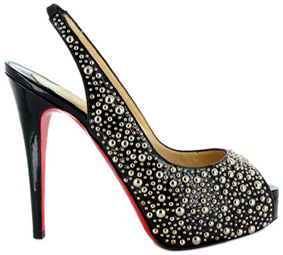 Chirstian Louboutin Star Prive Studs Sling Back Sandals
