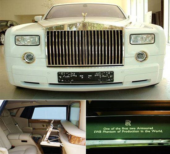 Solid gold Rolls Royce Phantom
