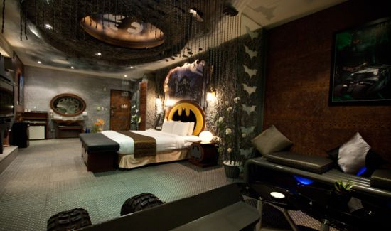 Batman room in Eden Motel, Taiwan
