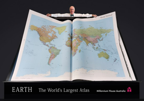 World's largest atlas Earth Platinum