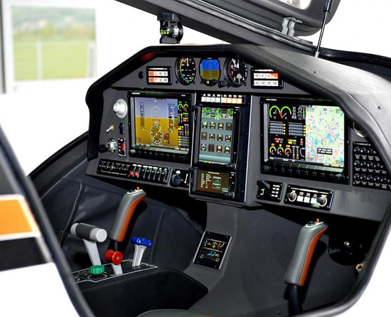 The Pipisttrel Panthera 4-seater aircraft interior