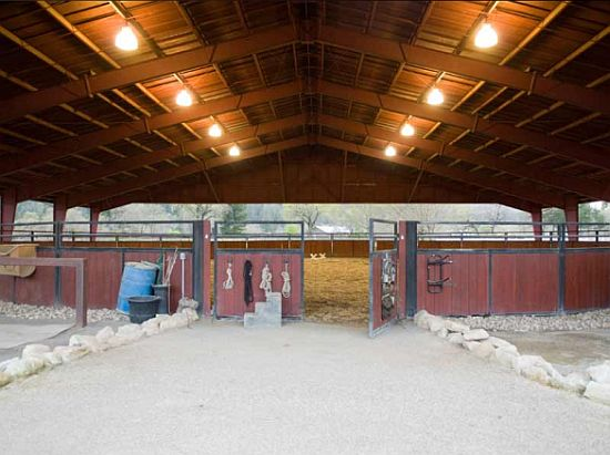 Nappa Valley ranch Horse stable interior