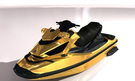 Venom Design gold plated jet ski